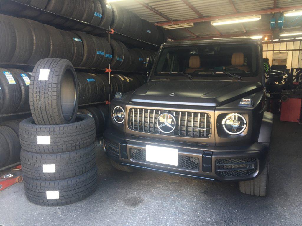 メルセデスベンツ現行GクラスG63AMG Edition1に22インチスタッドレスタイヤを装着!